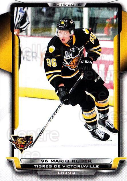 2015-16 Victoriaville Tigres #1 Mario Huber<br/>1 In Stock - $3.00 each - <a href=https://centericecollectibles.foxycart.com/cart?name=2015-16%20Victoriaville%20Tigres%20%231%20Mario%20Huber...&quantity_max=1&price=$3.00&code=705337 class=foxycart> Buy it now! </a>