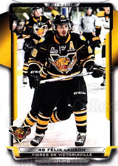 2015-16 Victoriaville Tigres #3 Felix Lauzon<br/>1 In Stock - $3.00 each - <a href=https://centericecollectibles.foxycart.com/cart?name=2015-16%20Victoriaville%20Tigres%20%233%20Felix%20Lauzon...&quantity_max=1&price=$3.00&code=705339 class=foxycart> Buy it now! </a>