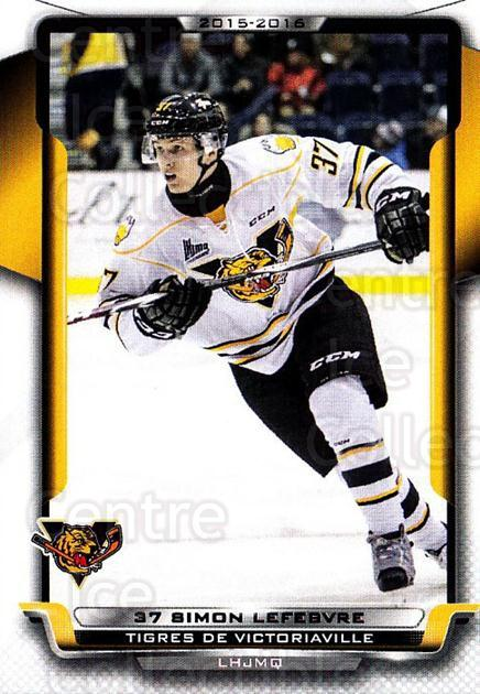 2015-16 Victoriaville Tigres #7 Simon Lefebvre<br/>1 In Stock - $3.00 each - <a href=https://centericecollectibles.foxycart.com/cart?name=2015-16%20Victoriaville%20Tigres%20%237%20Simon%20Lefebvre...&quantity_max=1&price=$3.00&code=705343 class=foxycart> Buy it now! </a>