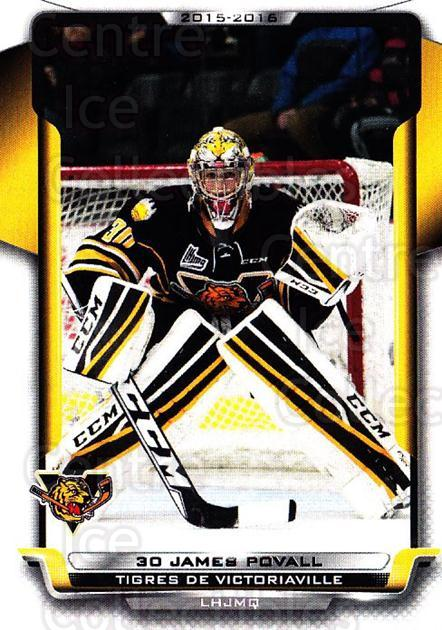 2015-16 Victoriaville Tigres #8 James Povall<br/>1 In Stock - $3.00 each - <a href=https://centericecollectibles.foxycart.com/cart?name=2015-16%20Victoriaville%20Tigres%20%238%20James%20Povall...&quantity_max=1&price=$3.00&code=705344 class=foxycart> Buy it now! </a>
