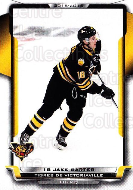 2015-16 Victoriaville Tigres #16 Jake Barter<br/>1 In Stock - $3.00 each - <a href=https://centericecollectibles.foxycart.com/cart?name=2015-16%20Victoriaville%20Tigres%20%2316%20Jake%20Barter...&quantity_max=1&price=$3.00&code=705352 class=foxycart> Buy it now! </a>