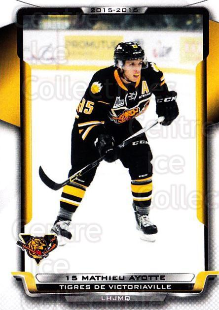 2015-16 Victoriaville Tigres #17 Mathieu Ayotte<br/>1 In Stock - $3.00 each - <a href=https://centericecollectibles.foxycart.com/cart?name=2015-16%20Victoriaville%20Tigres%20%2317%20Mathieu%20Ayotte...&quantity_max=1&price=$3.00&code=705353 class=foxycart> Buy it now! </a>