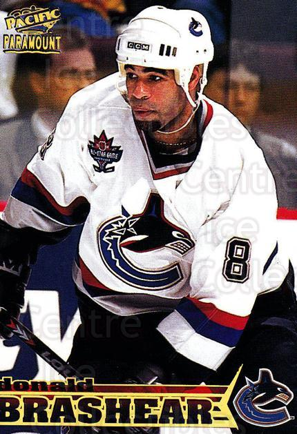 1998-99 Paramount #233 Donald Brashear<br/>4 In Stock - $1.00 each - <a href=https://centericecollectibles.foxycart.com/cart?name=1998-99%20Paramount%20%23233%20Donald%20Brashear...&quantity_max=4&price=$1.00&code=70571 class=foxycart> Buy it now! </a>