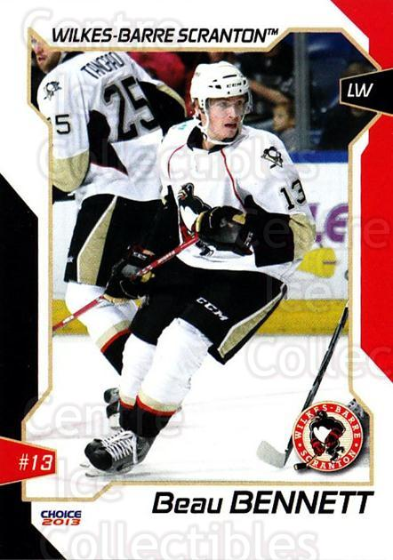2012-13 Wilkes-Barre Scranton Penguins #1 Beau Bennett<br/>1 In Stock - $5.00 each - <a href=https://centericecollectibles.foxycart.com/cart?name=2012-13%20Wilkes-Barre%20Scranton%20Penguins%20%231%20Beau%20Bennett...&quantity_max=1&price=$5.00&code=705940 class=foxycart> Buy it now! </a>