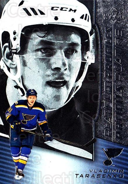 2017-18 Tim Hortons Platinum Profiles #10 Vladimir Tarasenko<br/>12 In Stock - $3.00 each - <a href=https://centericecollectibles.foxycart.com/cart?name=2017-18%20Tim%20Hortons%20Platinum%20Profiles%20%2310%20Vladimir%20Tarase...&quantity_max=12&price=$3.00&code=706094 class=foxycart> Buy it now! </a>
