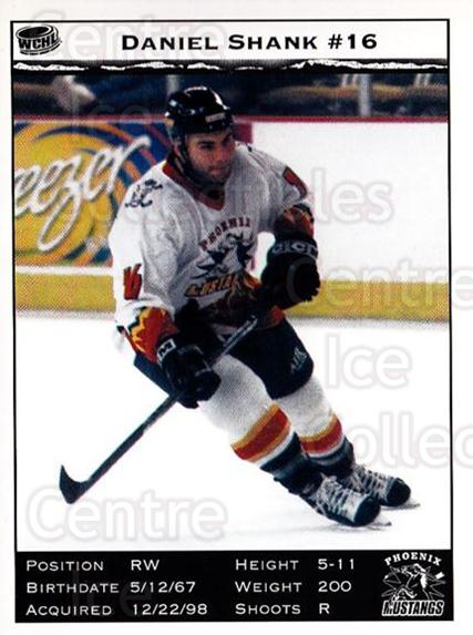 1998-99 Phoenix Mustangs #6 Daniel Shank<br/>3 In Stock - $3.00 each - <a href=https://centericecollectibles.foxycart.com/cart?name=1998-99%20Phoenix%20Mustangs%20%236%20Daniel%20Shank...&quantity_max=3&price=$3.00&code=70610 class=foxycart> Buy it now! </a>