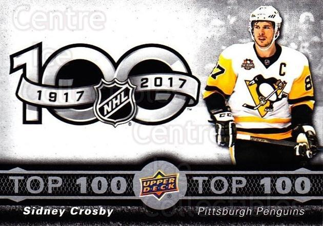 2017-18 Tim Hortons Top 100 #1 Sidney Crosby<br/>7 In Stock - $2.00 each - <a href=https://centericecollectibles.foxycart.com/cart?name=2017-18%20Tim%20Hortons%20Top%20100%20%231%20Sidney%20Crosby...&quantity_max=7&price=$2.00&code=706112 class=foxycart> Buy it now! </a>