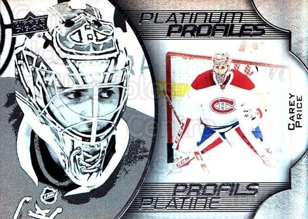 2016-17 Tim Hortons Platinum Profiles #7 Carey Price<br/>1 In Stock - $10.00 each - <a href=https://centericecollectibles.foxycart.com/cart?name=2016-17%20Tim%20Hortons%20Platinum%20Profiles%20%237%20Carey%20Price...&price=$10.00&code=706125 class=foxycart> Buy it now! </a>