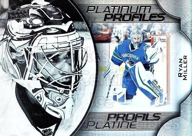 2016-17 Tim Hortons Platinum Profiles #11 Ryan Miller<br/>12 In Stock - $3.00 each - <a href=https://centericecollectibles.foxycart.com/cart?name=2016-17%20Tim%20Hortons%20Platinum%20Profiles%20%2311%20Ryan%20Miller...&quantity_max=12&price=$3.00&code=706129 class=foxycart> Buy it now! </a>