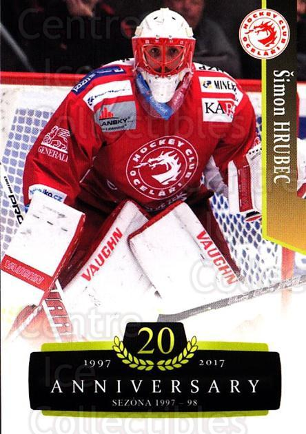 2017-18 Czech OFS Classic Anniversary #58 Simon Hrubec<br/>2 In Stock - $2.00 each - <a href=https://centericecollectibles.foxycart.com/cart?name=2017-18%20Czech%20OFS%20Classic%20Anniversary%20%2358%20Simon%20Hrubec...&quantity_max=2&price=$2.00&code=706388 class=foxycart> Buy it now! </a>