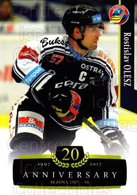 2017-18 Czech OFS Classic Anniversary #122 Rostislav Olesz<br/>2 In Stock - $2.00 each - <a href=https://centericecollectibles.foxycart.com/cart?name=2017-18%20Czech%20OFS%20Classic%20Anniversary%20%23122%20Rostislav%20Olesz...&quantity_max=2&price=$2.00&code=706452 class=foxycart> Buy it now! </a>