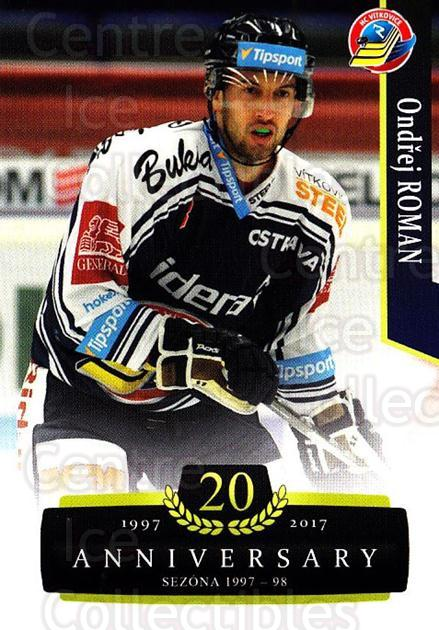 2017-18 Czech OFS Classic Anniversary #123 Ondrej Roman<br/>2 In Stock - $2.00 each - <a href=https://centericecollectibles.foxycart.com/cart?name=2017-18%20Czech%20OFS%20Classic%20Anniversary%20%23123%20Ondrej%20Roman...&quantity_max=2&price=$2.00&code=706453 class=foxycart> Buy it now! </a>