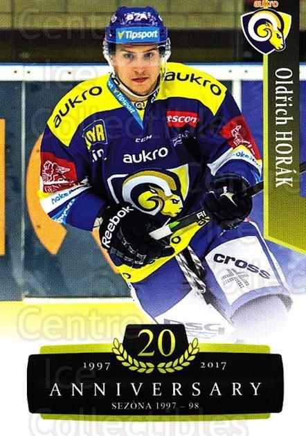 2017-18 Czech OFS Classic Anniversary #162 Oldrich Horak<br/>2 In Stock - $2.00 each - <a href=https://centericecollectibles.foxycart.com/cart?name=2017-18%20Czech%20OFS%20Classic%20Anniversary%20%23162%20Oldrich%20Horak...&quantity_max=2&price=$2.00&code=706492 class=foxycart> Buy it now! </a>