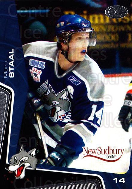 2005-06 Sudbury Wolves #1 Marc Staal<br/>1 In Stock - $3.00 each - <a href=https://centericecollectibles.foxycart.com/cart?name=2005-06%20Sudbury%20Wolves%20%231%20Marc%20Staal...&quantity_max=1&price=$3.00&code=706730 class=foxycart> Buy it now! </a>
