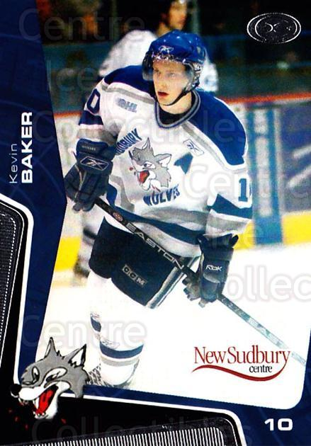 2005-06 Sudbury Wolves #9 Kevin Baker<br/>1 In Stock - $3.00 each - <a href=https://centericecollectibles.foxycart.com/cart?name=2005-06%20Sudbury%20Wolves%20%239%20Kevin%20Baker...&quantity_max=1&price=$3.00&code=706738 class=foxycart> Buy it now! </a>