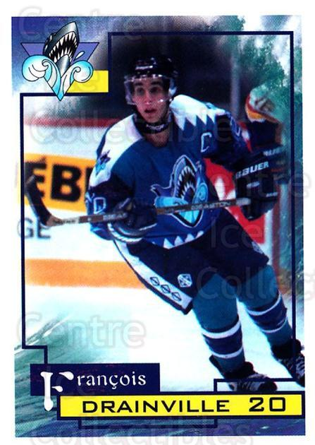 1997-98 Rimouski Oceanic #9 Francois Drainville<br/>1 In Stock - $3.00 each - <a href=https://centericecollectibles.foxycart.com/cart?name=1997-98%20Rimouski%20Oceanic%20%239%20Francois%20Drainv...&quantity_max=1&price=$3.00&code=706764 class=foxycart> Buy it now! </a>