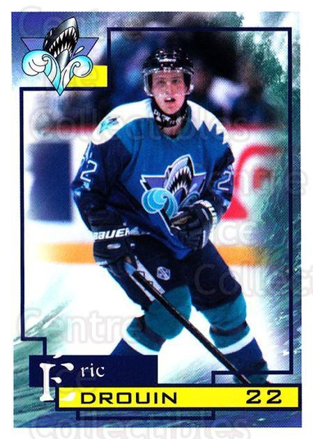1997-98 Rimouski Oceanic #10 Eric Drouin<br/>1 In Stock - $3.00 each - <a href=https://centericecollectibles.foxycart.com/cart?name=1997-98%20Rimouski%20Oceanic%20%2310%20Eric%20Drouin...&quantity_max=1&price=$3.00&code=706765 class=foxycart> Buy it now! </a>