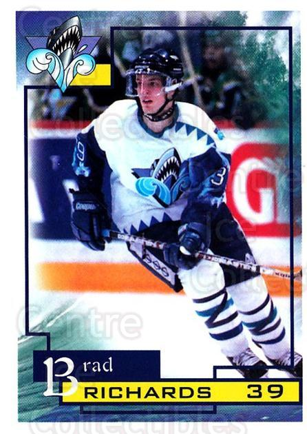 1997-98 Rimouski Oceanic #18 Brad Richards<br/>1 In Stock - $5.00 each - <a href=https://centericecollectibles.foxycart.com/cart?name=1997-98%20Rimouski%20Oceanic%20%2318%20Brad%20Richards...&quantity_max=1&price=$5.00&code=706773 class=foxycart> Buy it now! </a>