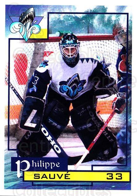 1997-98 Rimouski Oceanic #21 Philippe Sauve<br/>1 In Stock - $3.00 each - <a href=https://centericecollectibles.foxycart.com/cart?name=1997-98%20Rimouski%20Oceanic%20%2321%20Philippe%20Sauve...&quantity_max=1&price=$3.00&code=706776 class=foxycart> Buy it now! </a>