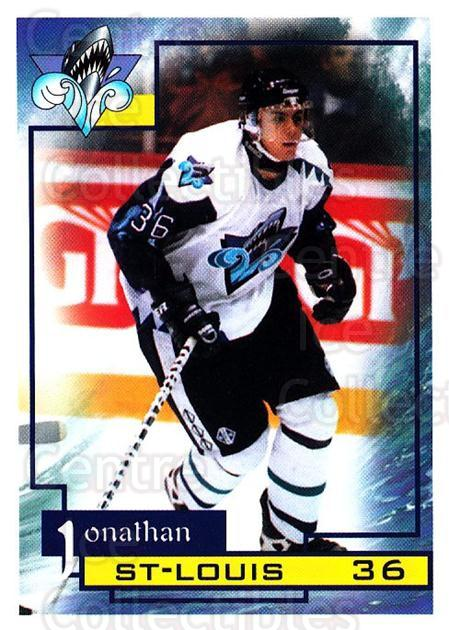 1997-98 Rimouski Oceanic #22 Jonathan St. Louis<br/>1 In Stock - $3.00 each - <a href=https://centericecollectibles.foxycart.com/cart?name=1997-98%20Rimouski%20Oceanic%20%2322%20Jonathan%20St.%20Lo...&quantity_max=1&price=$3.00&code=706777 class=foxycart> Buy it now! </a>
