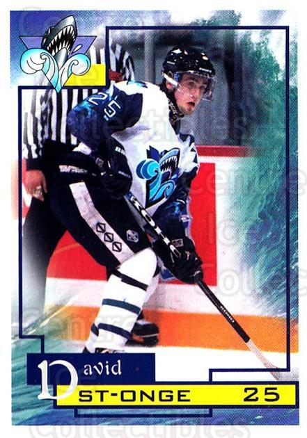 1997-98 Rimouski Oceanic #23 David St. Onge<br/>1 In Stock - $3.00 each - <a href=https://centericecollectibles.foxycart.com/cart?name=1997-98%20Rimouski%20Oceanic%20%2323%20David%20St.%20Onge...&quantity_max=1&price=$3.00&code=706778 class=foxycart> Buy it now! </a>