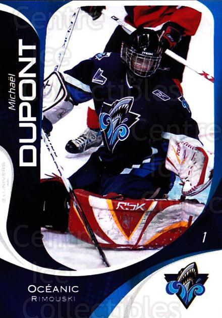 2007-08 Rimouski Oceanic #1 Michael Dupont<br/>1 In Stock - $3.00 each - <a href=https://centericecollectibles.foxycart.com/cart?name=2007-08%20Rimouski%20Oceanic%20%231%20Michael%20Dupont...&quantity_max=1&price=$3.00&code=706782 class=foxycart> Buy it now! </a>