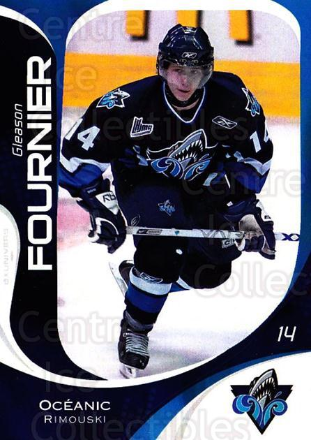 2007-08 Rimouski Oceanic #8 Gleason Fournier<br/>1 In Stock - $3.00 each - <a href=https://centericecollectibles.foxycart.com/cart?name=2007-08%20Rimouski%20Oceanic%20%238%20Gleason%20Fournie...&quantity_max=1&price=$3.00&code=706789 class=foxycart> Buy it now! </a>