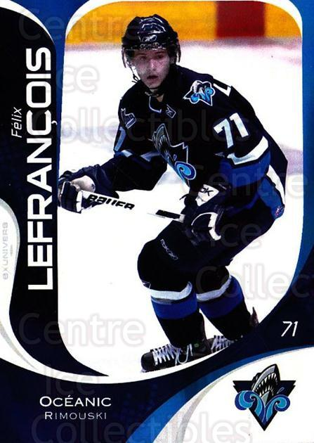 2007-08 Rimouski Oceanic #17 Felix Lefrancois<br/>1 In Stock - $3.00 each - <a href=https://centericecollectibles.foxycart.com/cart?name=2007-08%20Rimouski%20Oceanic%20%2317%20Felix%20Lefrancoi...&quantity_max=1&price=$3.00&code=706798 class=foxycart> Buy it now! </a>