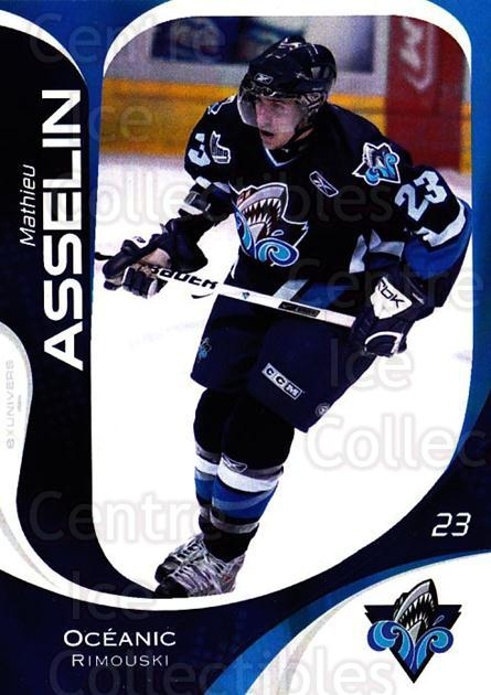 2007-08 Rimouski Oceanic #24 Mathieu Asselin<br/>1 In Stock - $3.00 each - <a href=https://centericecollectibles.foxycart.com/cart?name=2007-08%20Rimouski%20Oceanic%20%2324%20Mathieu%20Asselin...&quantity_max=1&price=$3.00&code=706805 class=foxycart> Buy it now! </a>