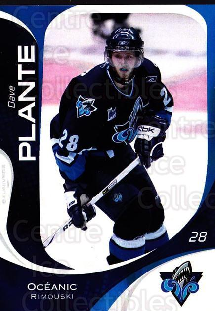 2007-08 Rimouski Oceanic #26 Dave Plante<br/>1 In Stock - $3.00 each - <a href=https://centericecollectibles.foxycart.com/cart?name=2007-08%20Rimouski%20Oceanic%20%2326%20Dave%20Plante...&quantity_max=1&price=$3.00&code=706807 class=foxycart> Buy it now! </a>