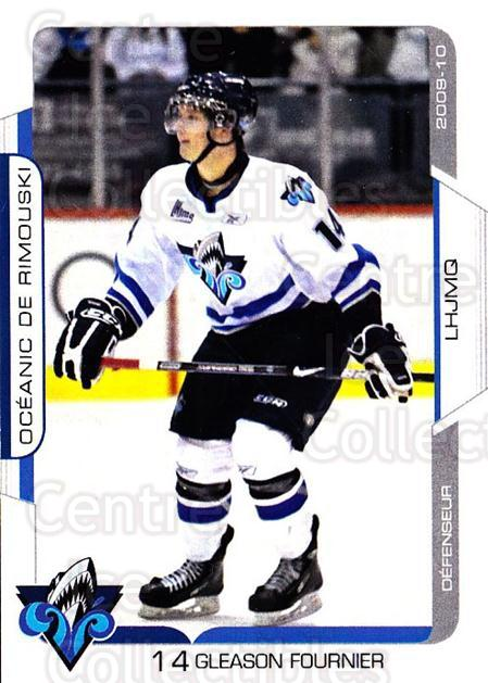 2009-10 Rimouski Oceanic #14 Gleason Fournier<br/>1 In Stock - $3.00 each - <a href=https://centericecollectibles.foxycart.com/cart?name=2009-10%20Rimouski%20Oceanic%20%2314%20Gleason%20Fournie...&quantity_max=1&price=$3.00&code=706821 class=foxycart> Buy it now! </a>