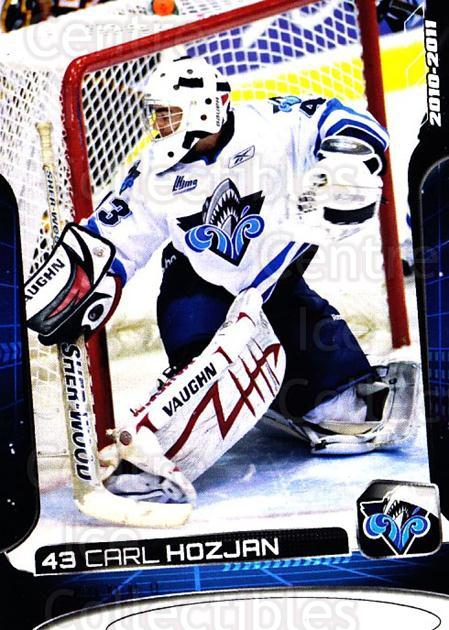 2010-11 Rimouski Oceanic #2 Carl Hozjan<br/>1 In Stock - $3.00 each - <a href=https://centericecollectibles.foxycart.com/cart?name=2010-11%20Rimouski%20Oceanic%20%232%20Carl%20Hozjan...&quantity_max=1&price=$3.00&code=706836 class=foxycart> Buy it now! </a>