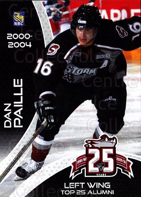 2015-16 Guelph Storm Alumni #7 Daniel Paille<br/>1 In Stock - $3.00 each - <a href=https://centericecollectibles.foxycart.com/cart?name=2015-16%20Guelph%20Storm%20Alumni%20%237%20Daniel%20Paille...&quantity_max=1&price=$3.00&code=706946 class=foxycart> Buy it now! </a>