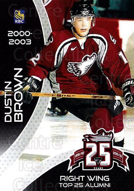 2015-16 Guelph Storm Alumni #9 Dustin Brown<br/>3 In Stock - $3.00 each - <a href=https://centericecollectibles.foxycart.com/cart?name=2015-16%20Guelph%20Storm%20Alumni%20%239%20Dustin%20Brown...&quantity_max=3&price=$3.00&code=706948 class=foxycart> Buy it now! </a>