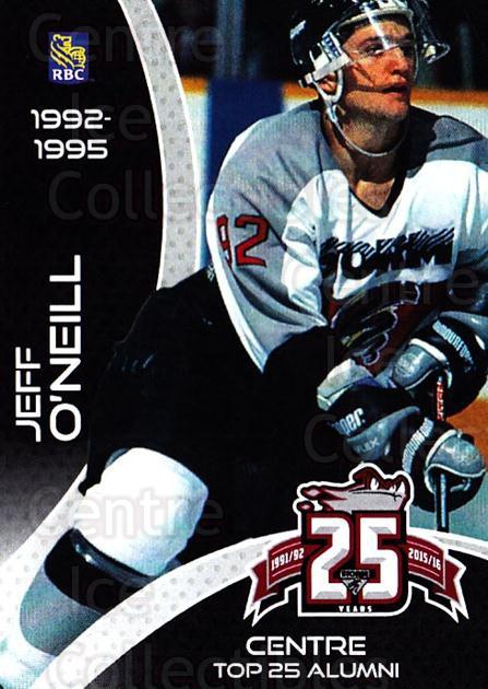 2015-16 Guelph Storm Alumni #11 Jeff O'Neill<br/>3 In Stock - $3.00 each - <a href=https://centericecollectibles.foxycart.com/cart?name=2015-16%20Guelph%20Storm%20Alumni%20%2311%20Jeff%20O'Neill...&quantity_max=3&price=$3.00&code=706950 class=foxycart> Buy it now! </a>