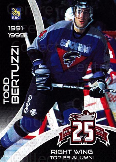 2015-16 Guelph Storm Alumni #23 Todd Bertuzzi<br/>2 In Stock - $3.00 each - <a href=https://centericecollectibles.foxycart.com/cart?name=2015-16%20Guelph%20Storm%20Alumni%20%2323%20Todd%20Bertuzzi...&quantity_max=2&price=$3.00&code=706962 class=foxycart> Buy it now! </a>