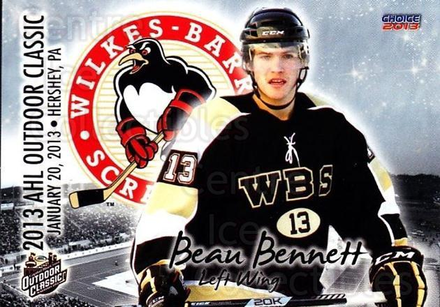 2012-13 AHL Outdoor Classic #22 Beau Bennett<br/>1 In Stock - $3.00 each - <a href=https://centericecollectibles.foxycart.com/cart?name=2012-13%20AHL%20Outdoor%20Classic%20%2322%20Beau%20Bennett...&quantity_max=1&price=$3.00&code=707024 class=foxycart> Buy it now! </a>