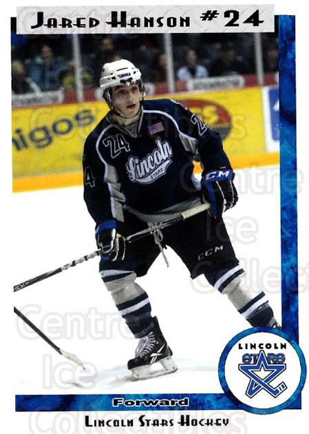 2011-12 Lincoln Stars High Gloss #46 Jared Hanson<br/>3 In Stock - $3.00 each - <a href=https://centericecollectibles.foxycart.com/cart?name=2011-12%20Lincoln%20Stars%20High%20Gloss%20%2346%20Jared%20Hanson...&price=$3.00&code=707093 class=foxycart> Buy it now! </a>