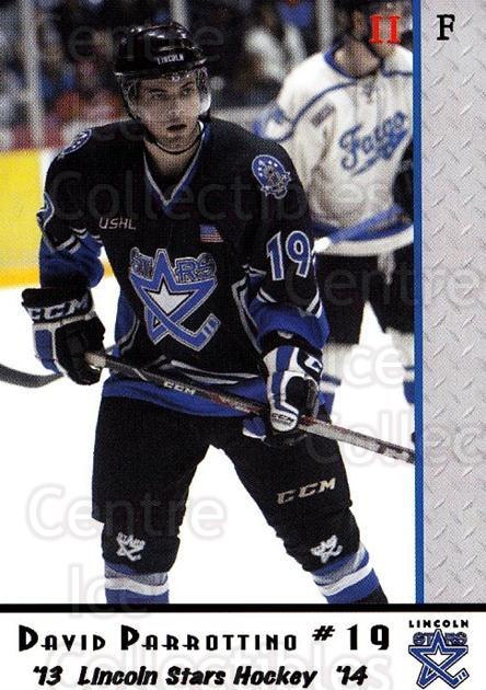 2013-14 Lincoln Stars High Gloss #44 David Parrottino<br/>3 In Stock - $3.00 each - <a href=https://centericecollectibles.foxycart.com/cart?name=2013-14%20Lincoln%20Stars%20High%20Gloss%20%2344%20David%20Parrottin...&quantity_max=3&price=$3.00&code=707179 class=foxycart> Buy it now! </a>