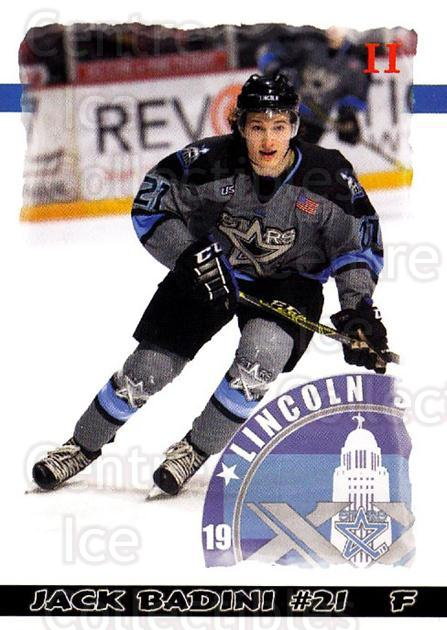 2015-16 Lincoln Stars #48 Jack Badini<br/>3 In Stock - $3.00 each - <a href=https://centericecollectibles.foxycart.com/cart?name=2015-16%20Lincoln%20Stars%20%2348%20Jack%20Badini...&quantity_max=3&price=$3.00&code=707316 class=foxycart> Buy it now! </a>