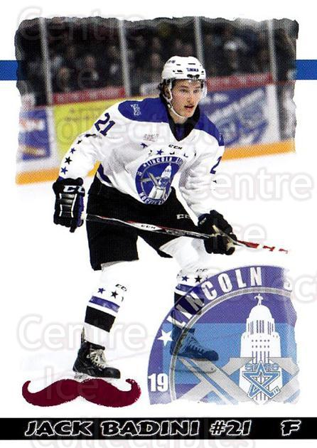 2015-16 Lincoln Stars Movember #17 Jack Badini<br/>3 In Stock - $3.00 each - <a href=https://centericecollectibles.foxycart.com/cart?name=2015-16%20Lincoln%20Stars%20Movember%20%2317%20Jack%20Badini...&quantity_max=3&price=$3.00&code=707409 class=foxycart> Buy it now! </a>