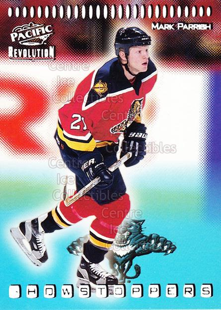 1998-99 Revolution Showstoppers #19 Mark Parrish<br/>4 In Stock - $2.00 each - <a href=https://centericecollectibles.foxycart.com/cart?name=1998-99%20Revolution%20Showstoppers%20%2319%20Mark%20Parrish...&quantity_max=4&price=$2.00&code=70742 class=foxycart> Buy it now! </a>