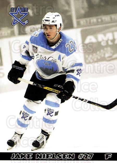 2016-17 Lincoln Stars #21 Jake Nielsen<br/>3 In Stock - $3.00 each - <a href=https://centericecollectibles.foxycart.com/cart?name=2016-17%20Lincoln%20Stars%20%2321%20Jake%20Nielsen...&quantity_max=3&price=$3.00&code=707443 class=foxycart> Buy it now! </a>