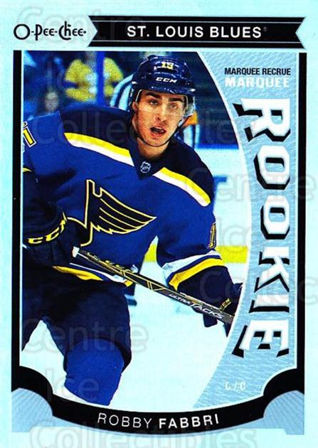 2015-16 O-Pee-chee Update Rainbow #24 Robby Fabbri<br/>1 In Stock - $3.00 each - <a href=https://centericecollectibles.foxycart.com/cart?name=2015-16%20O-Pee-chee%20Update%20Rainbow%20%2324%20Robby%20Fabbri...&quantity_max=1&price=$3.00&code=707597 class=foxycart> Buy it now! </a>