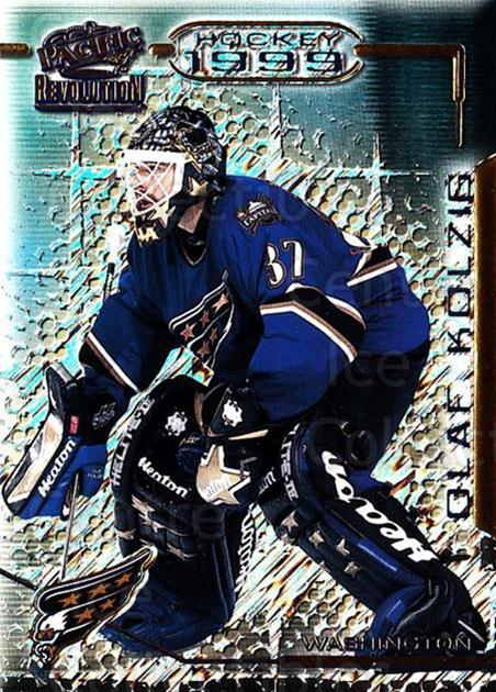 1998-99 Revolution #148 Olaf Kolzig<br/>5 In Stock - $1.00 each - <a href=https://centericecollectibles.foxycart.com/cart?name=1998-99%20Revolution%20%23148%20Olaf%20Kolzig...&quantity_max=5&price=$1.00&code=70825 class=foxycart> Buy it now! </a>