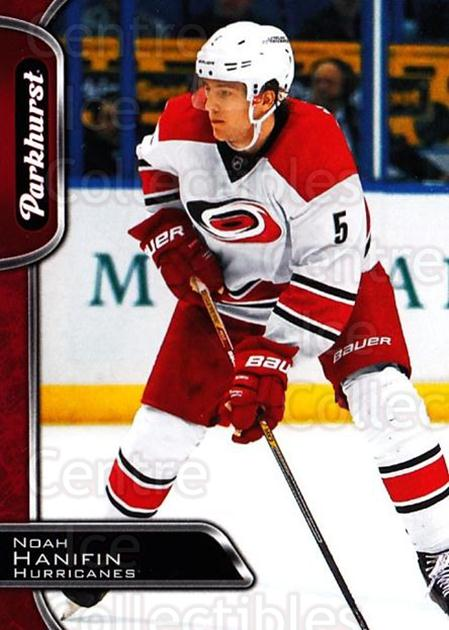 2016-17 Parkhurst Red #58 Noah Hanifin<br/>2 In Stock - $2.00 each - <a href=https://centericecollectibles.foxycart.com/cart?name=2016-17%20Parkhurst%20Red%20%2358%20Noah%20Hanifin...&quantity_max=2&price=$2.00&code=708309 class=foxycart> Buy it now! </a>