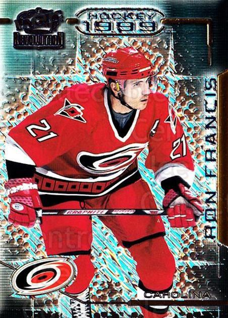 1998-99 Revolution #23 Ron Francis<br/>4 In Stock - $1.00 each - <a href=https://centericecollectibles.foxycart.com/cart?name=1998-99%20Revolution%20%2323%20Ron%20Francis...&quantity_max=4&price=$1.00&code=70836 class=foxycart> Buy it now! </a>