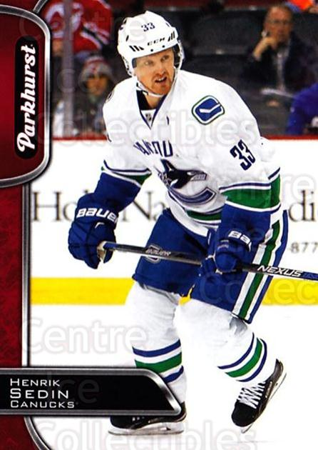 2016-17 Parkhurst Red #300 Henrik Sedin<br/>2 In Stock - $2.00 each - <a href=https://centericecollectibles.foxycart.com/cart?name=2016-17%20Parkhurst%20Red%20%23300%20Henrik%20Sedin...&quantity_max=2&price=$2.00&code=708551 class=foxycart> Buy it now! </a>