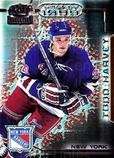 1998-99 Revolution #93 Todd Harvey<br/>5 In Stock - $1.00 each - <a href=https://centericecollectibles.foxycart.com/cart?name=1998-99%20Revolution%20%2393%20Todd%20Harvey...&quantity_max=5&price=$1.00&code=70898 class=foxycart> Buy it now! </a>