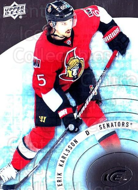 2014-15 UD Ice #32 Erik Karlsson<br/>6 In Stock - $3.00 each - <a href=https://centericecollectibles.foxycart.com/cart?name=2014-15%20UD%20Ice%20%2332%20Erik%20Karlsson...&quantity_max=6&price=$3.00&code=709363 class=foxycart> Buy it now! </a>
